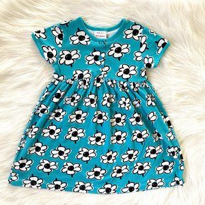 Hanna Andersson Girls Blue Floral Play Dress 6/7